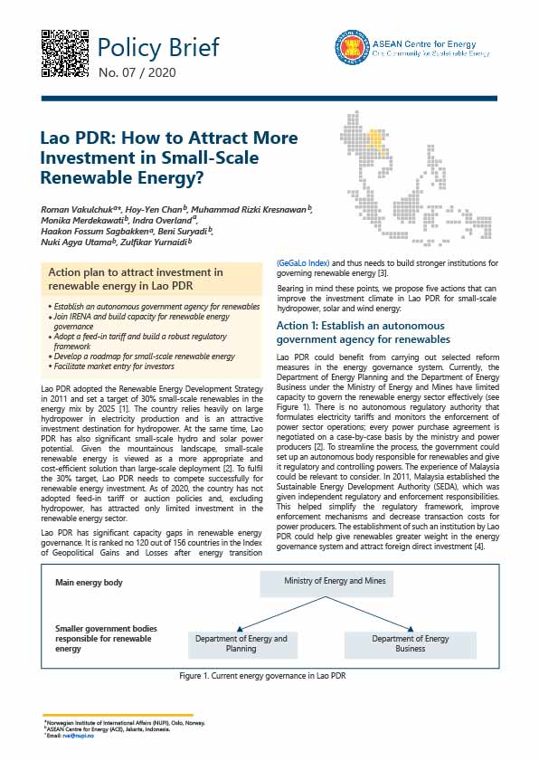 RE Investment Series - Lao PDR