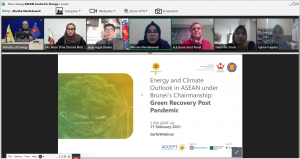 Energy and Climate Outlook in ASEAN under Brunei's Chairmanship: Green Recovery Post Pandemic