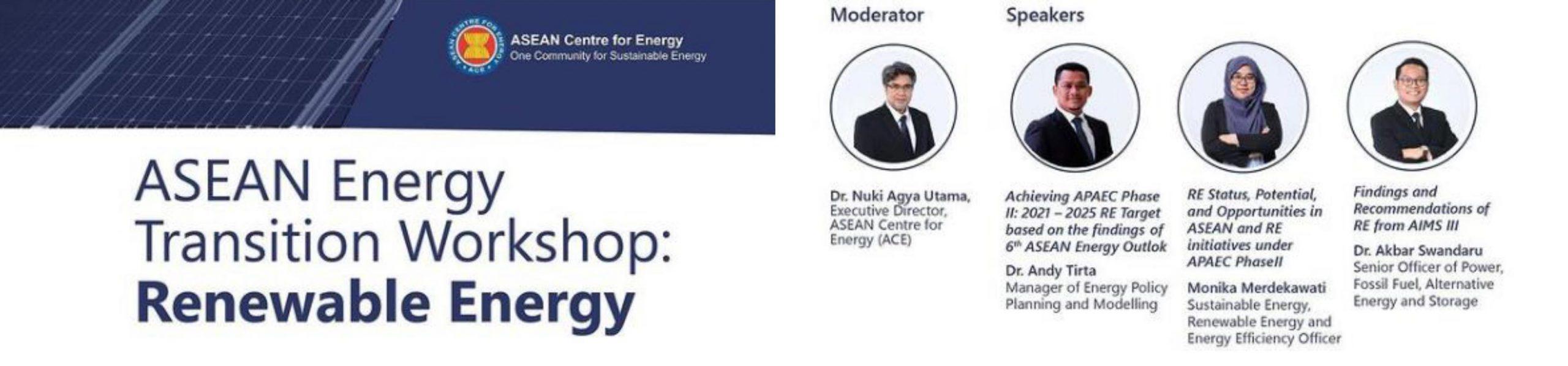 ASEAN Energy Transition Workshop: Renewable Energy